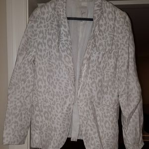Joie animal print linen blazer size8